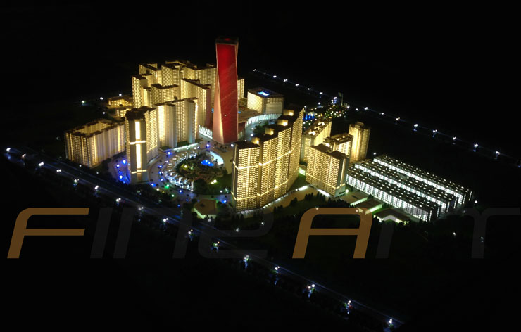 Paarth group housing township lucknow architectural scale model