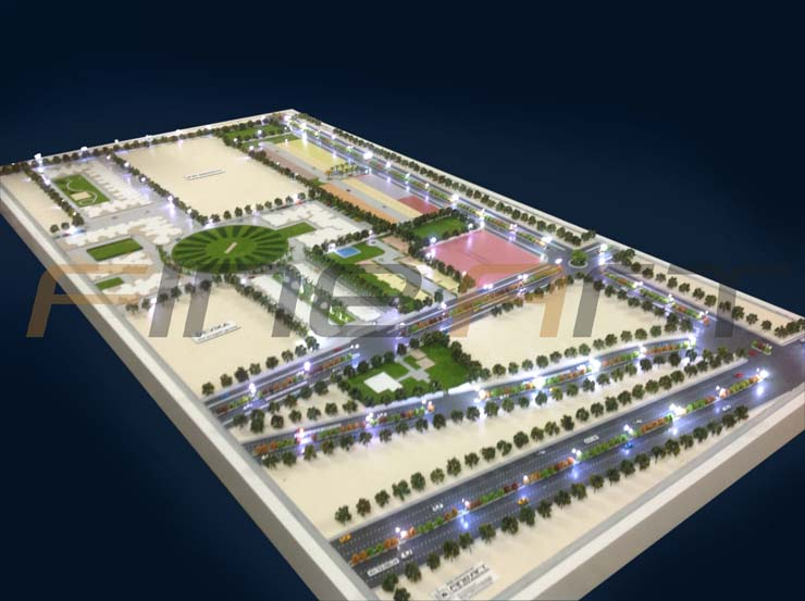 VVIP site location architectural scale model
