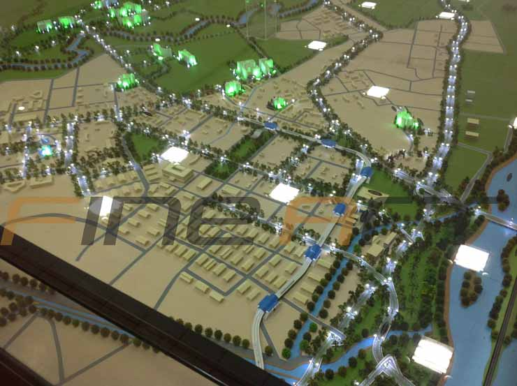 Amrapali site location architectural scale model