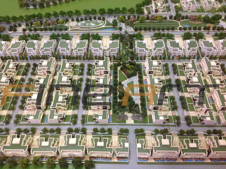 Amrapali township architectural scale model