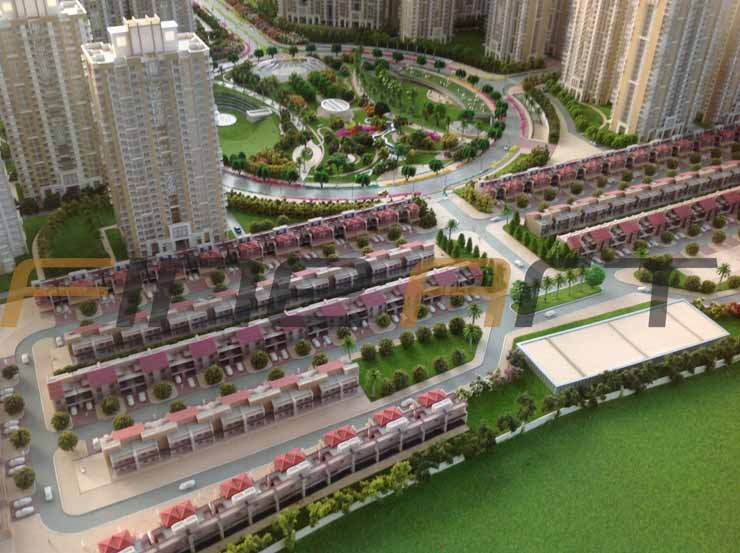 Gaur sons yamuna city township architectural scale model