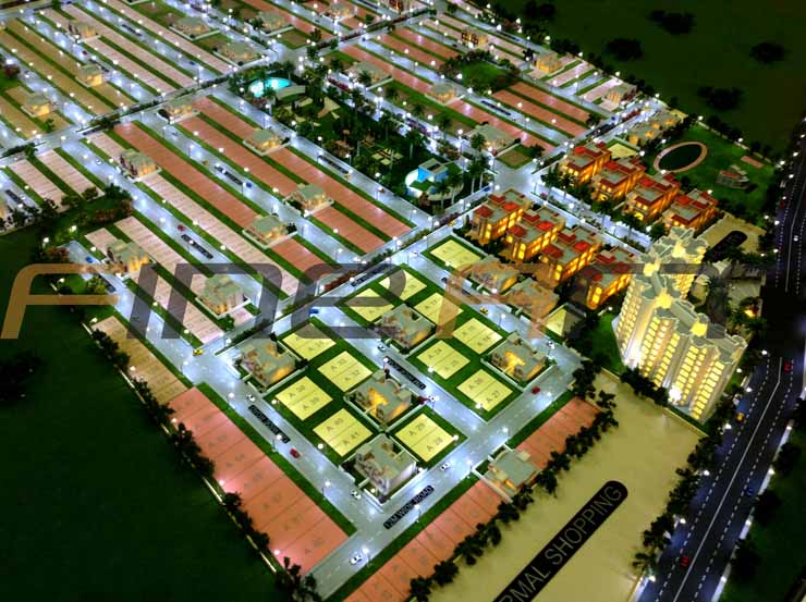 Manglam bikaner township architectural scale model